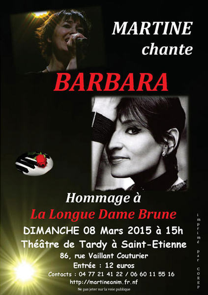 "Photos du spectacle ""Martine chante Barbara"""