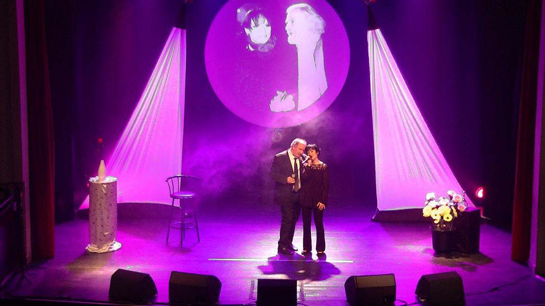 """Martine et Patrick chantent """"La dame brune"""" de Barbara et Georges Moustaki"""