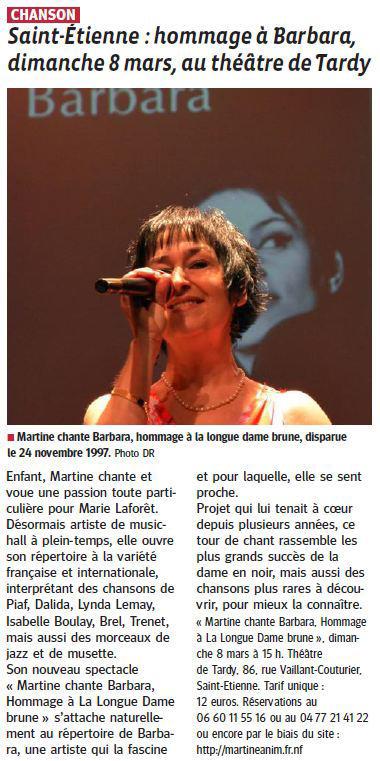 Article Le Progrès du 1 mars 2015