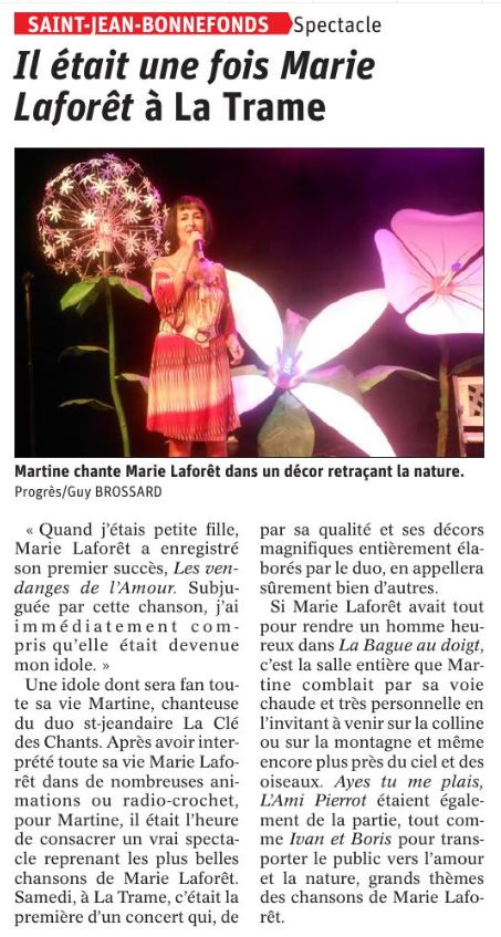 Article Le Progrès 01.10.2019