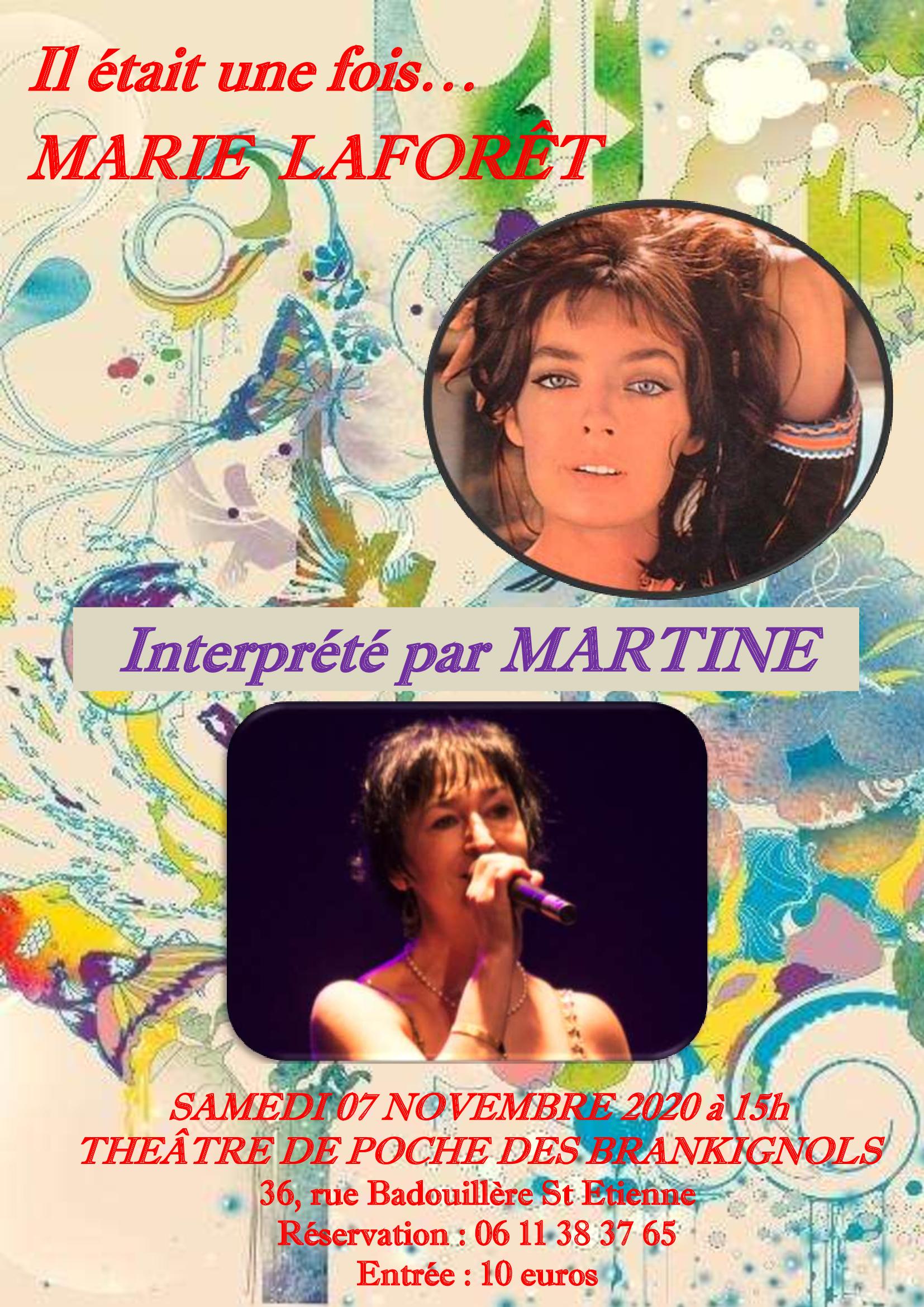Affiche du spectacle Il était une fois Marie Laforêt