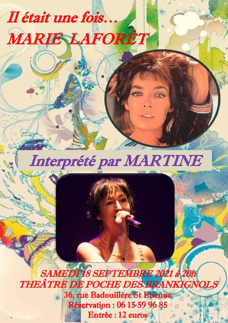 """Affiche du spectacle """"Il était une fois Marie Laforêt"""" du 18 septembre 2021"""